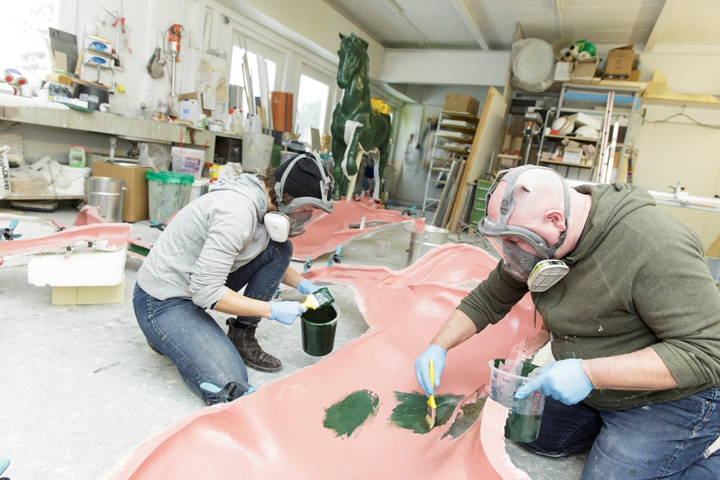 Nam June Paik Pre Bell Man Restaurierung Atelier Baumann Museum für Kommunikation Frankfurt